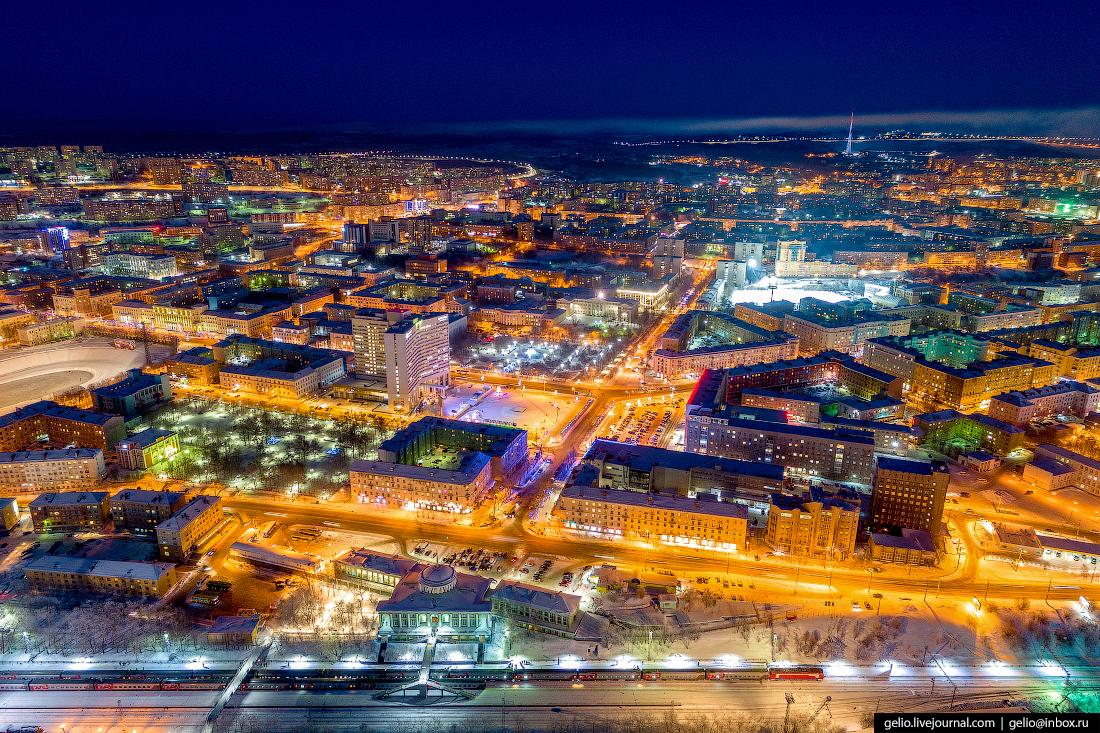 фото Мурманска с высоты, вокзал