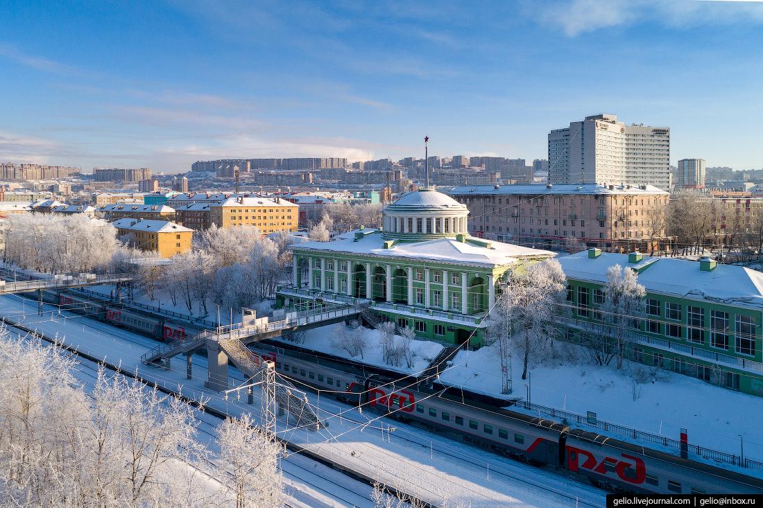 фото Мурманский железнодорожный вокзал