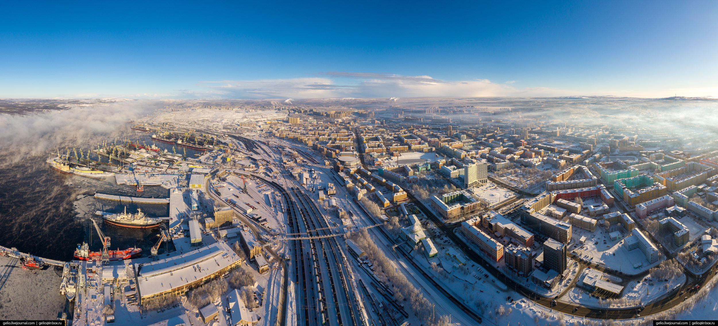 панорама Мурманск с высоты