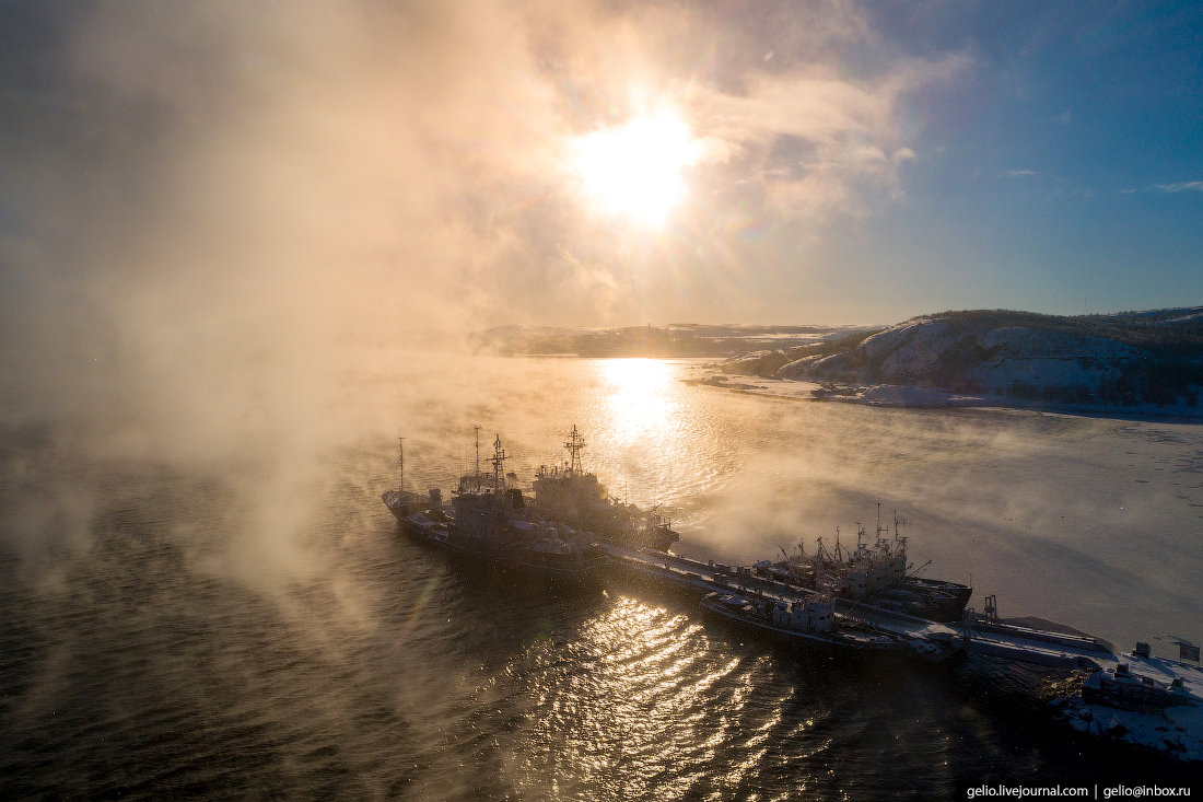 Мурманск с высоты: столица Заполярья и город моряков
