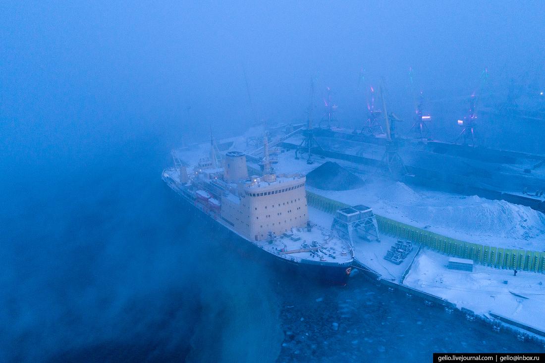 Атомфлот, фото Мурманска с высоты