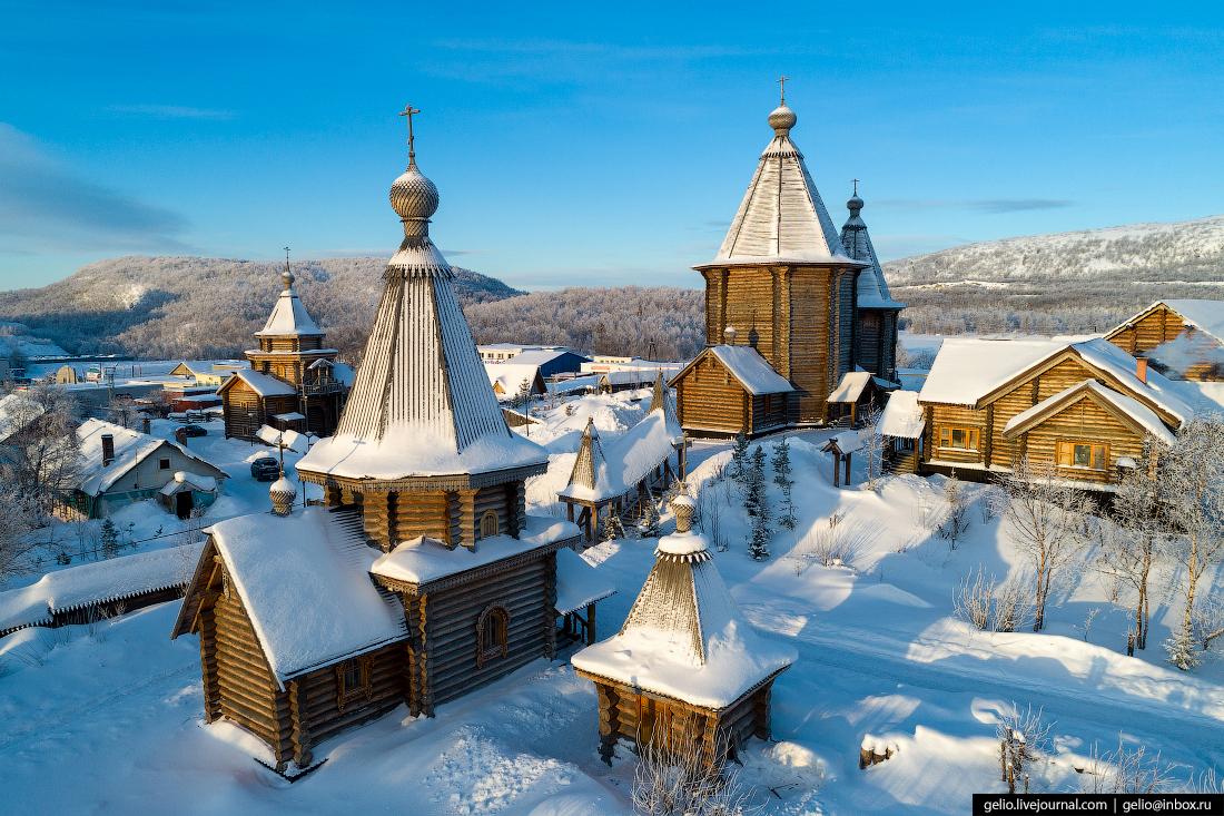 фото Мурманска с высоты, Архиерейское Свято-Феодоритовское подворье