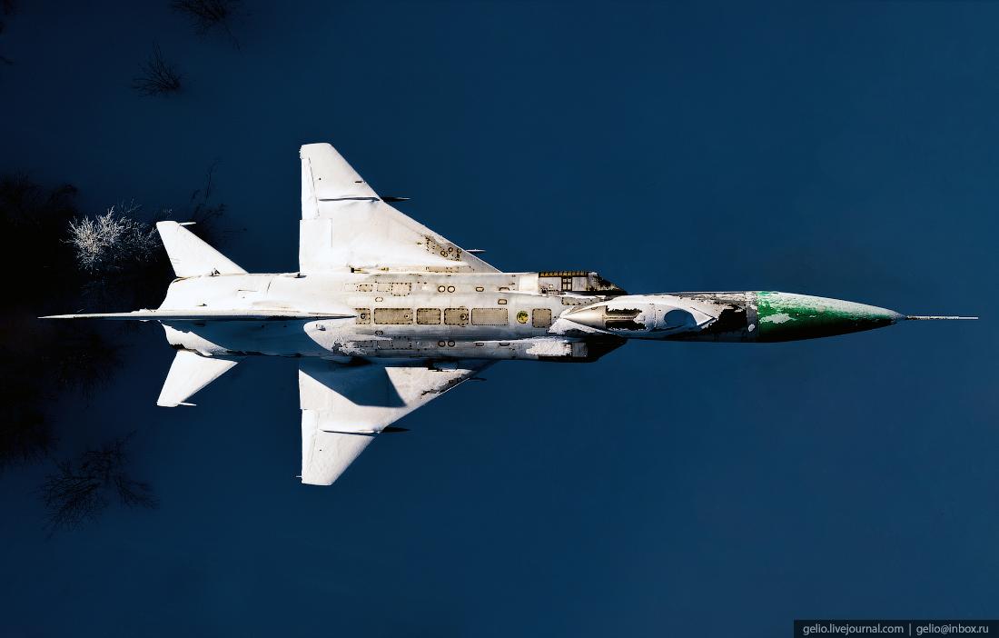 Самолёт Су-15ТМ, фото Мурманска с высоты