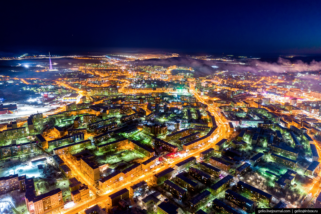 фото Мурманска с высоты, Новое Плато