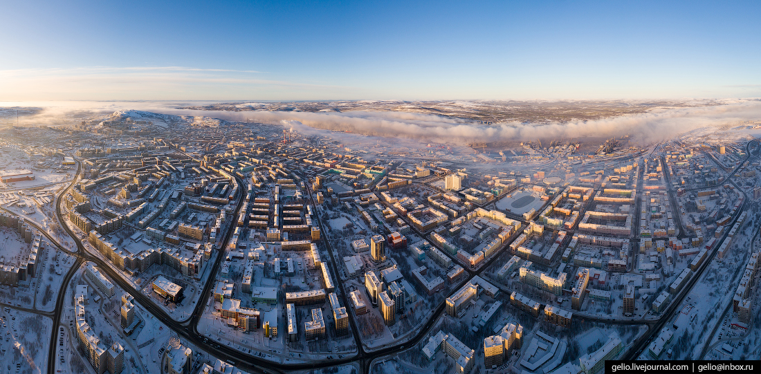улица маркса, фото Мурманска с высоты