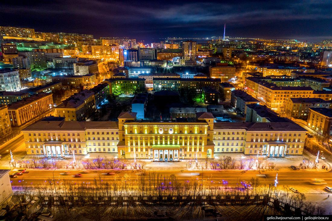 фото Мурманска с высоты, Здание правительства