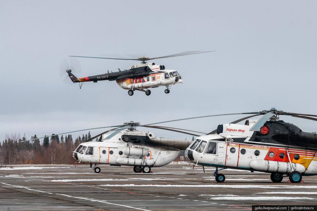 ненецкий ао, нарьянмарский авиаотряд, вертолёт, ми-8