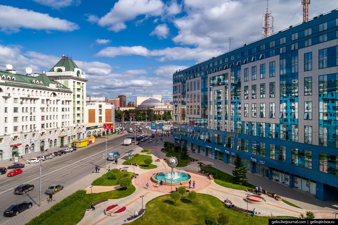 Новосибирск с высоты, сквер с7