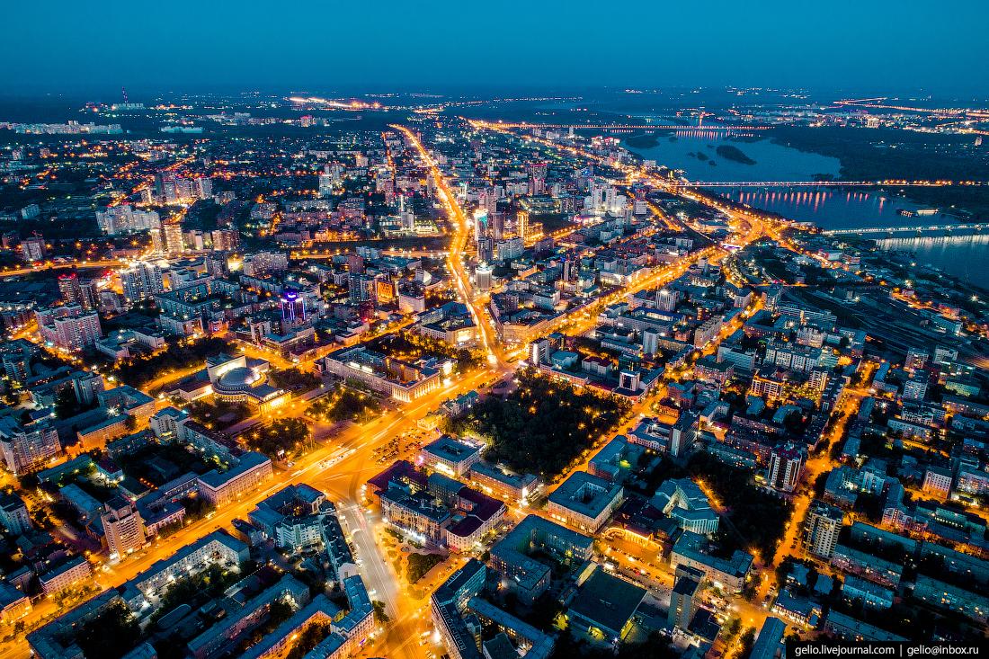 Новосибирск с высоты, Красный проспект
