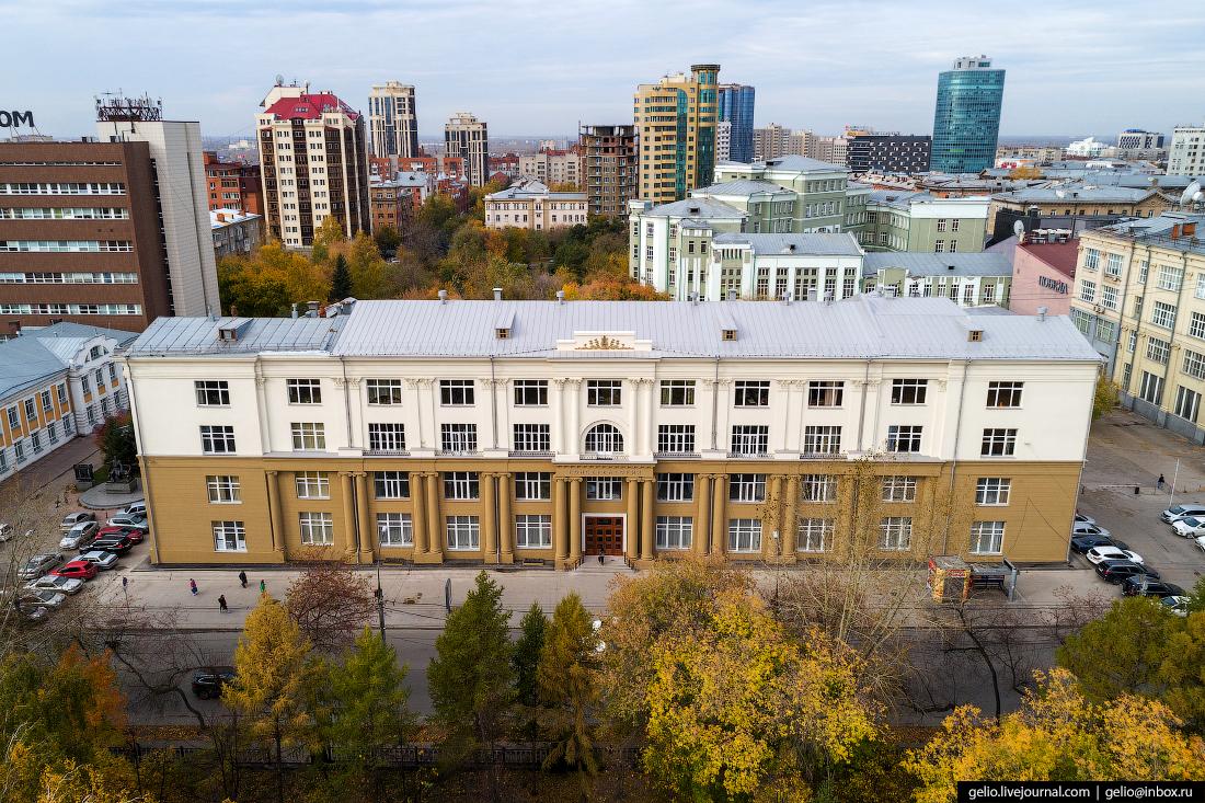 Новосибирск с высоты, консерватория глинки