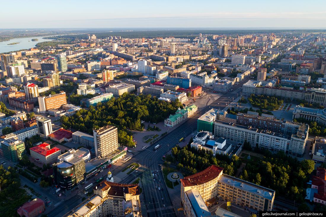Новосибирск с высоты, часовня