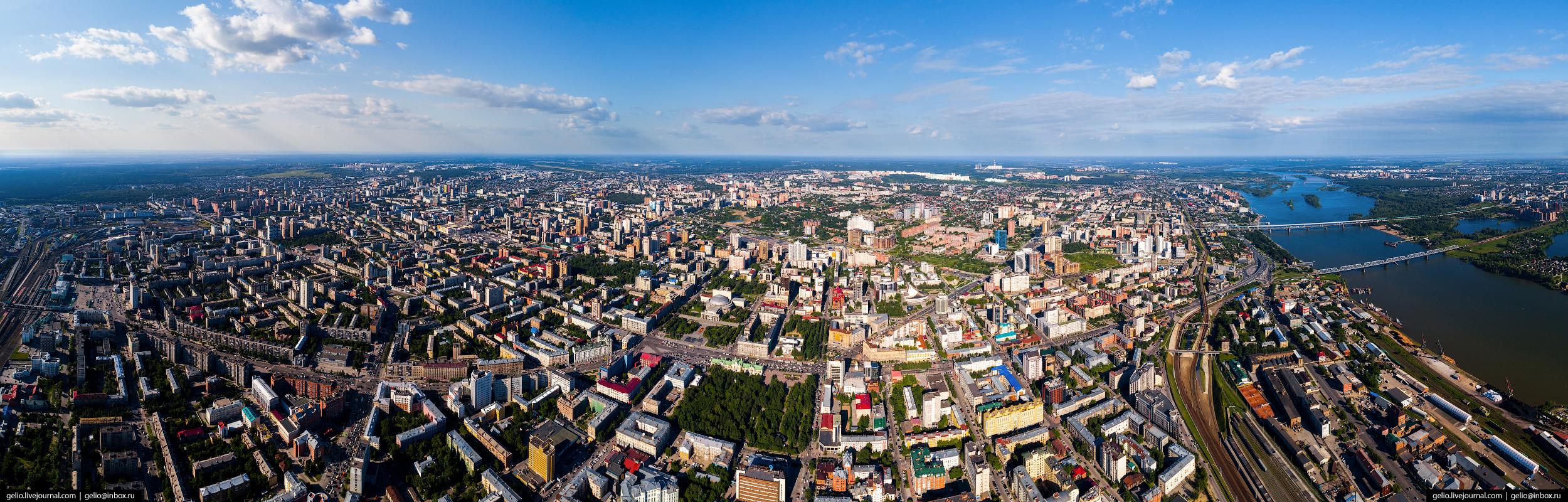Новосибирск с высоты, панорама