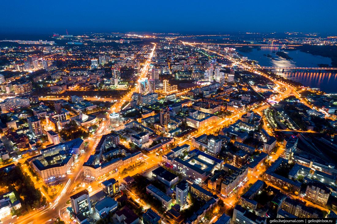 Новосибирск с высоты, Октябрьская магистраль