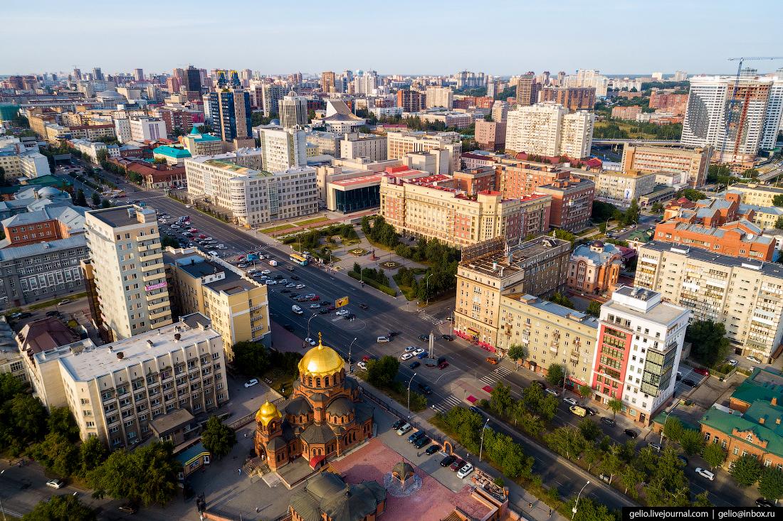 Новосибирск с высоты, Площадь Свердлова