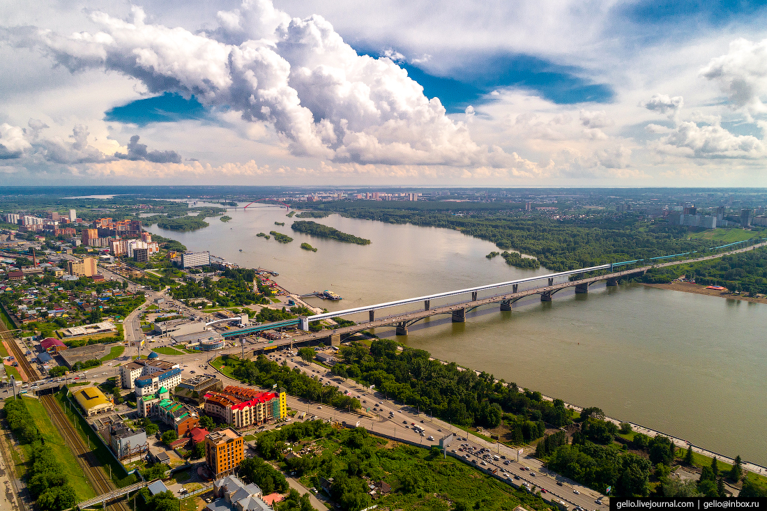 Новосибирск с высоты, Коммунальный мост