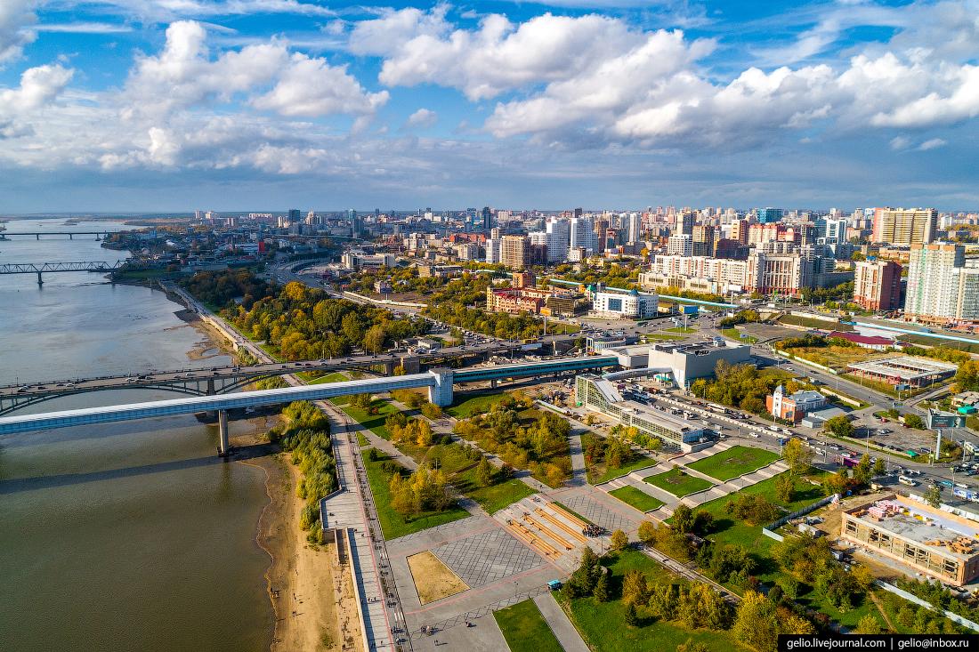 Новосибирск с высоты, Михайловская набережная