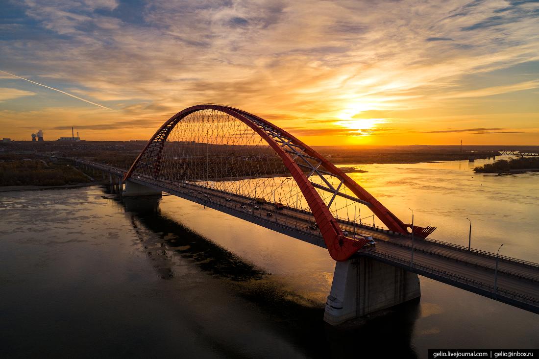 Новосибирск с высоты, Бугринский мост