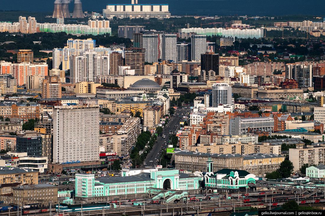 Новосибирск с высоты, Вокзальная магистраль
