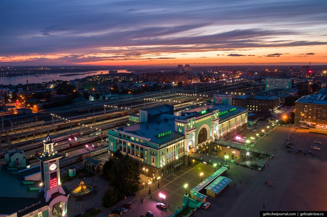 Новосибирск с высоты, Вокзал Новосибирск-Главный
