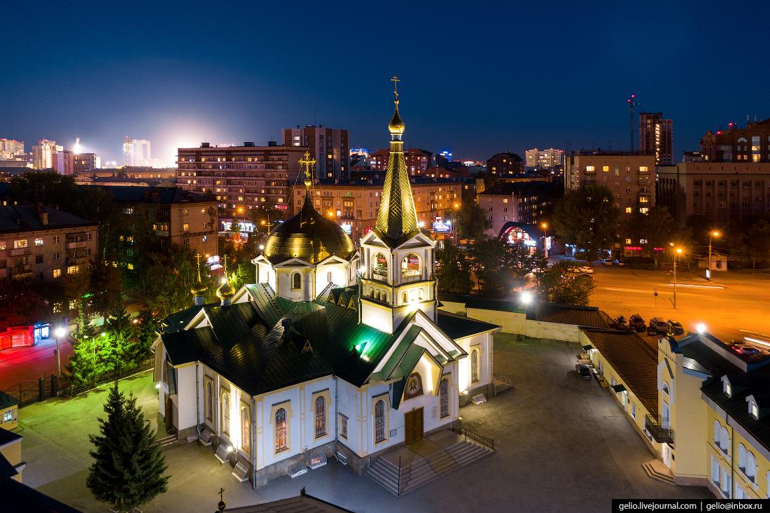 Новосибирск с высоты, Вознесенский собор