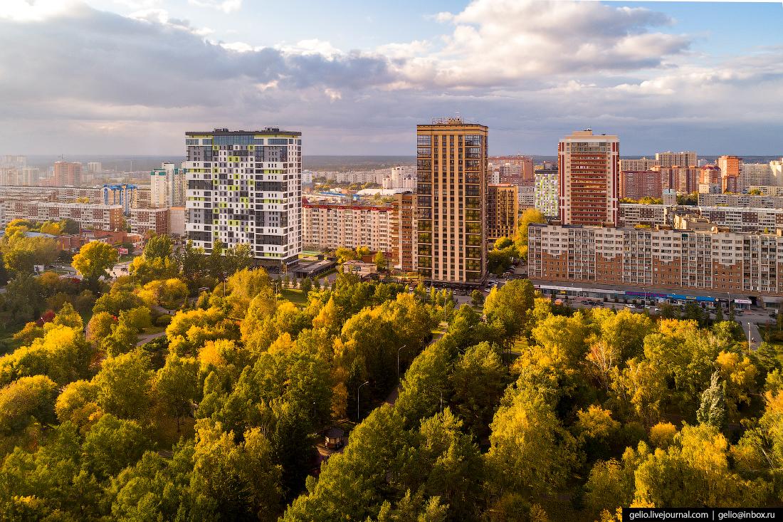 Новосибирск с высоты, Нарымский сквер
