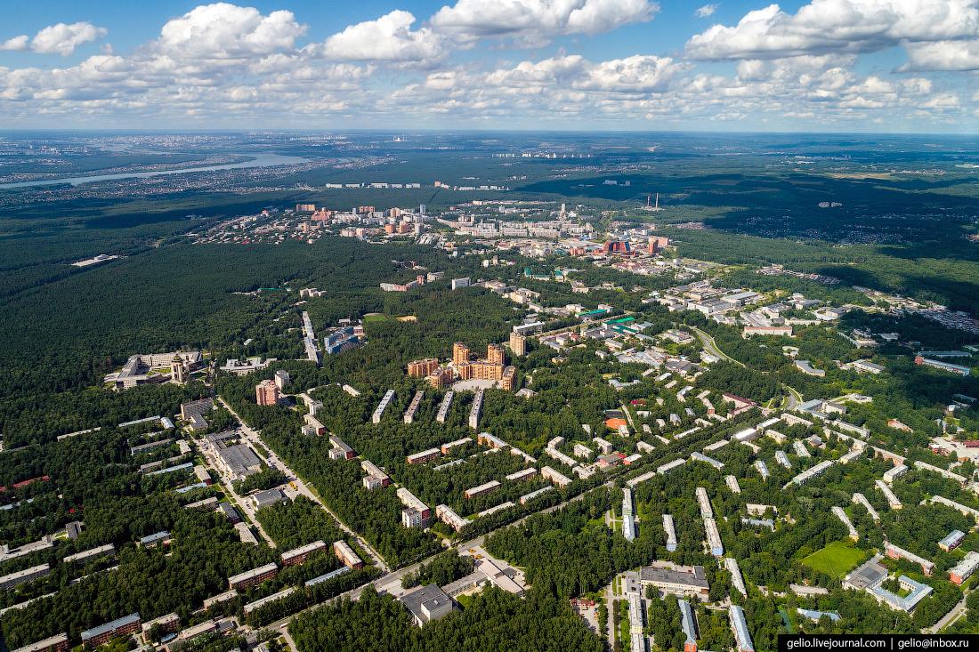 Новосибирск с высоты, Академгородок