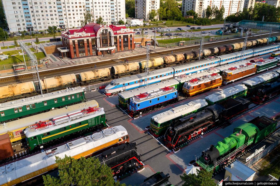 Новосибирск с высоты, Музей железнодорожной техники Сеятель