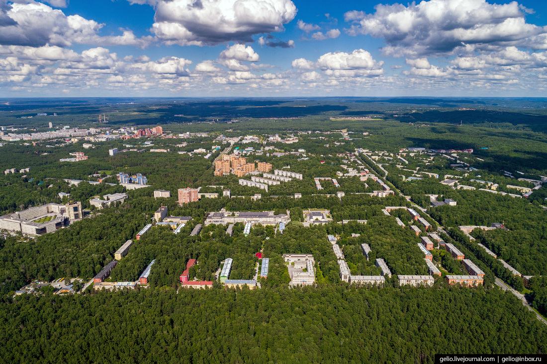 Новосибирск с высоты, академгородок Верхняя зона