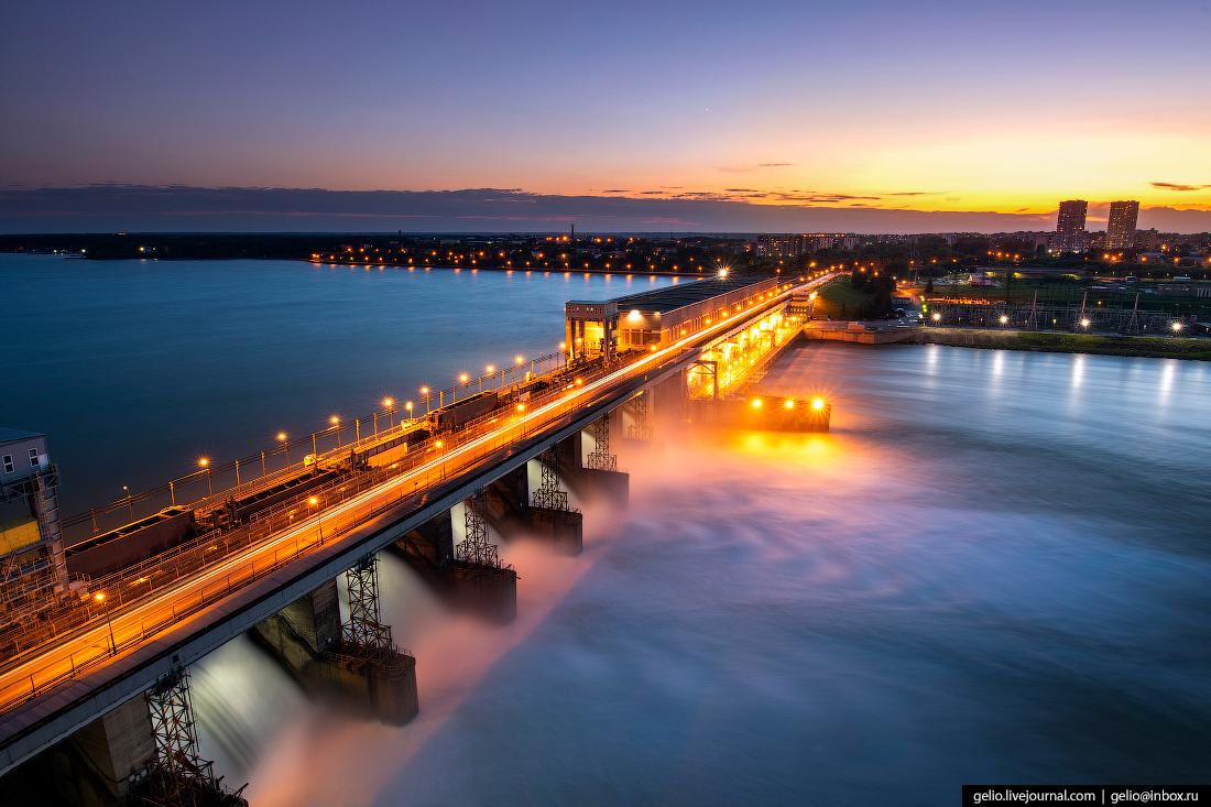Новосибирск с высоты, Новосибирская ГЭС