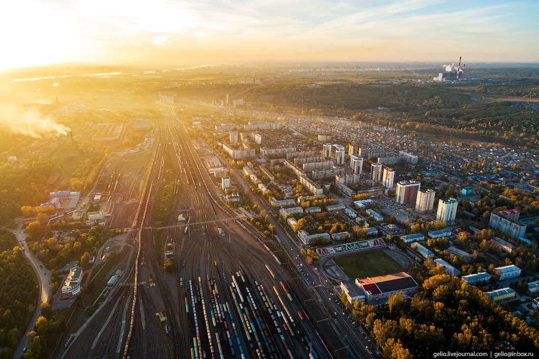 Новосибирск с высоты, Первомайский район