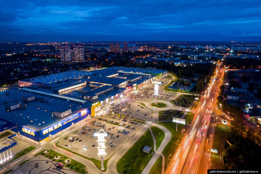 Новосибирск с высоты, трц МЕГА