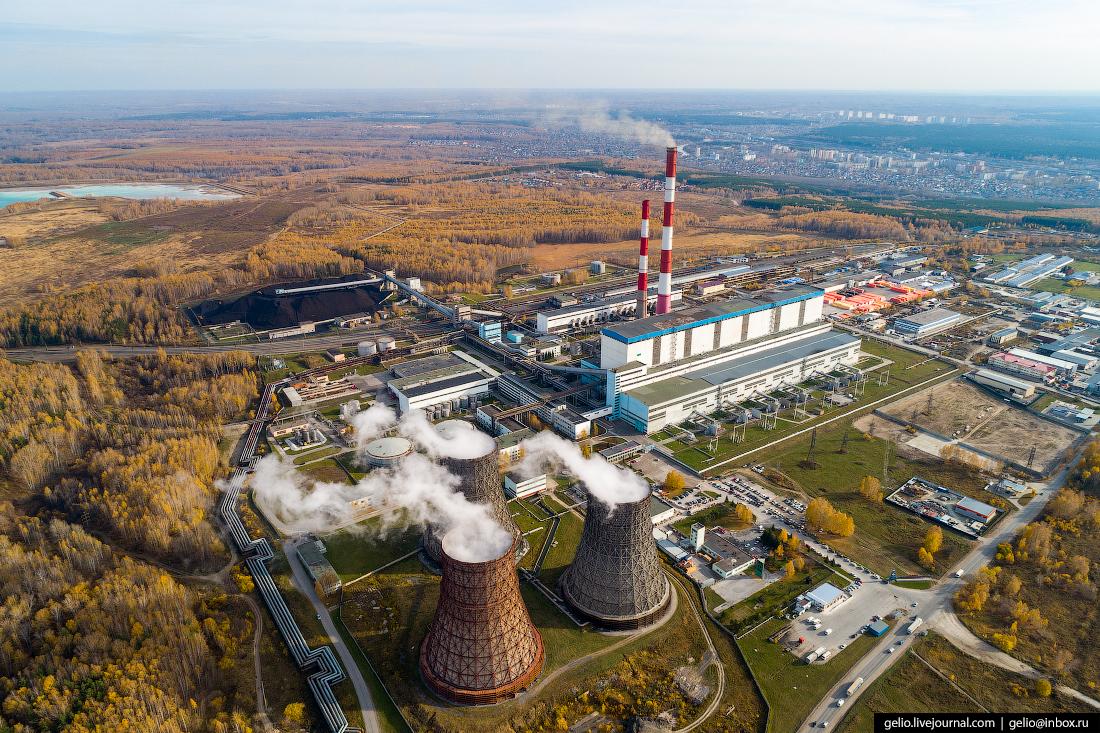 Новосибирск с высоты, ТЭЦ-5