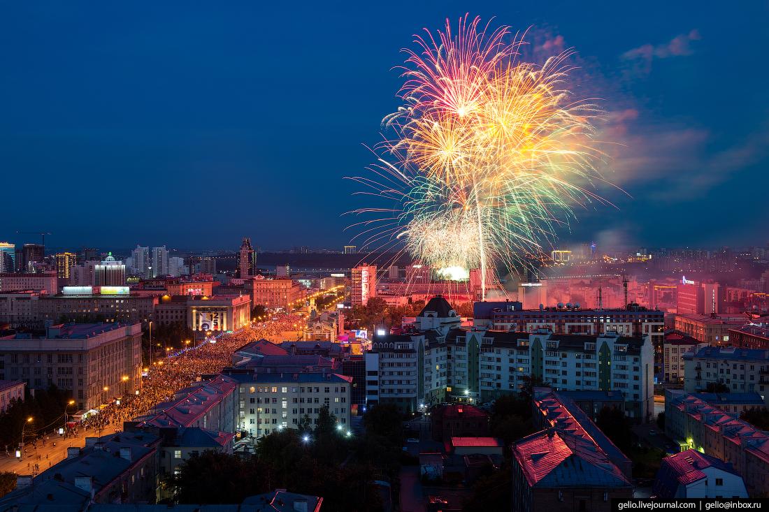 Новосибирск, Фейерверк, день города