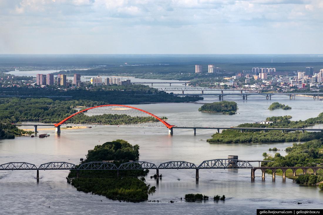 Фотографии Новосибирск с высоты обь