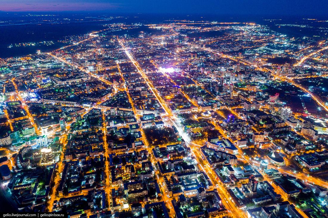 Красный проспект Фотографии Новосибирск с высоты