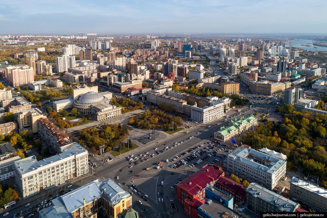 Площадь Ленина Фотографии Новосибирск с высоты