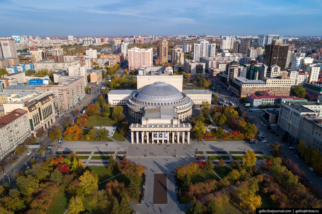 Новосибирский оперный театр НОВАТ Фотографии Новосибирск с высоты