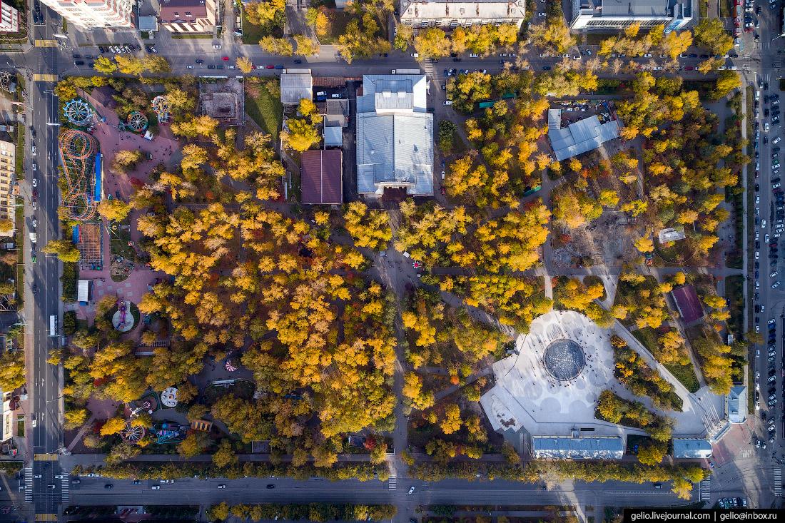 Центральный парк Фотографии Новосибирск с высоты