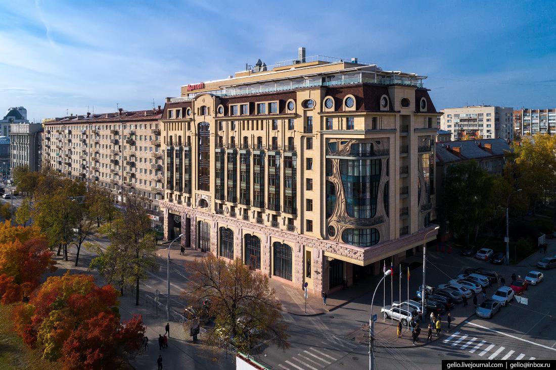 Гостиница Марриотт Фотографии Новосибирск с высоты