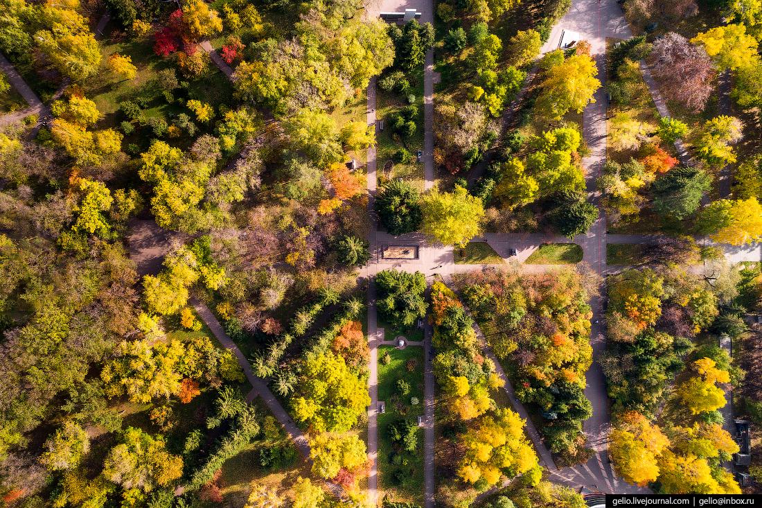Первомайский сквер Фотографии Новосибирск с высоты