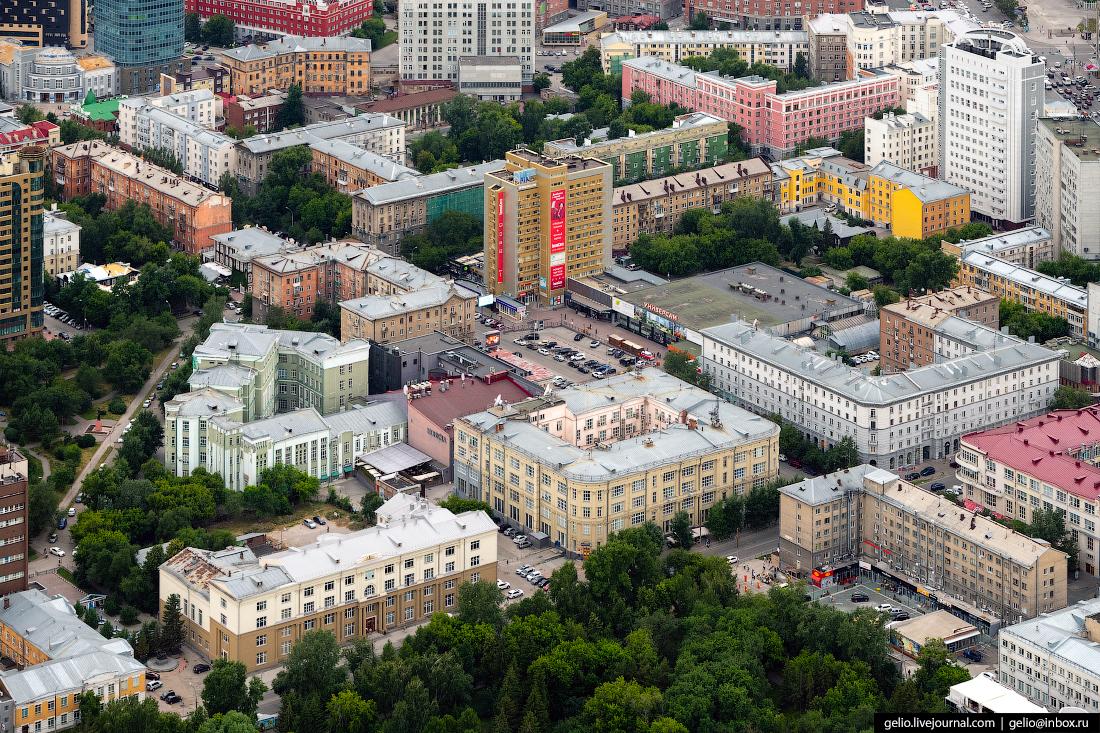 Улица Ленина Фотографии Новосибирск с высоты