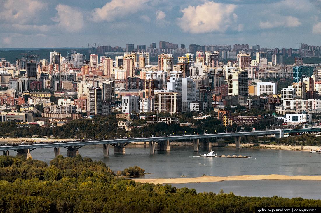 Обь Фотографии Новосибирск с высоты