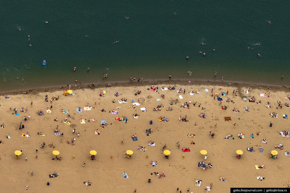 Городской пляж Наутилус Фотографии Новосибирск с высоты