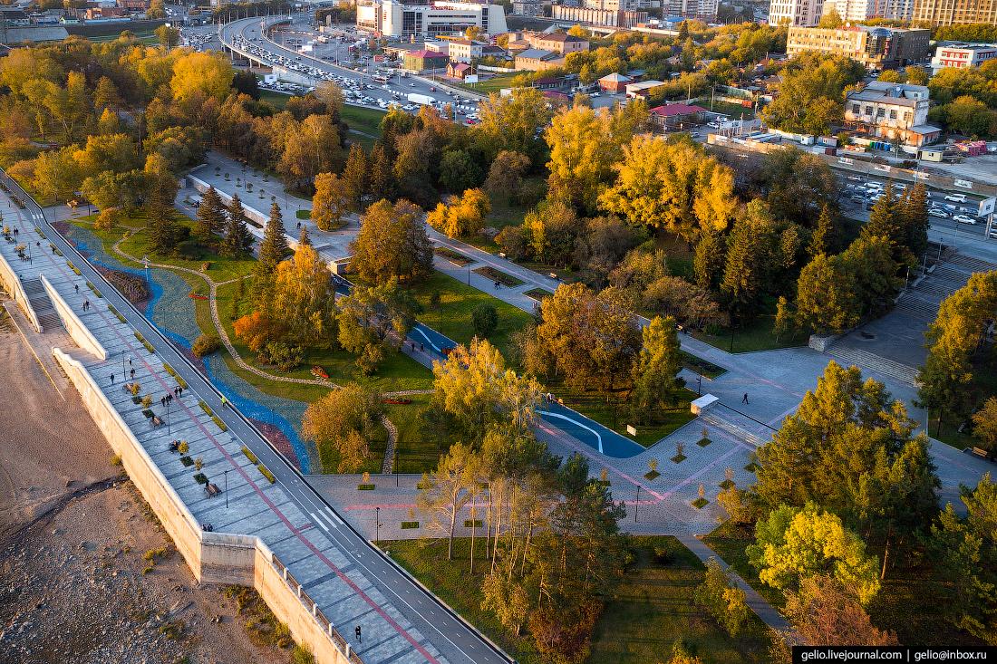 Михайловская набережная Фотографии Новосибирск с высоты