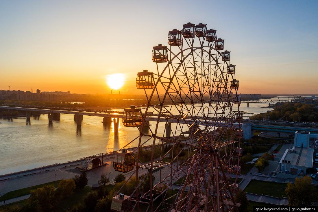 колесо обозрения Фотографии Новосибирск с высоты
