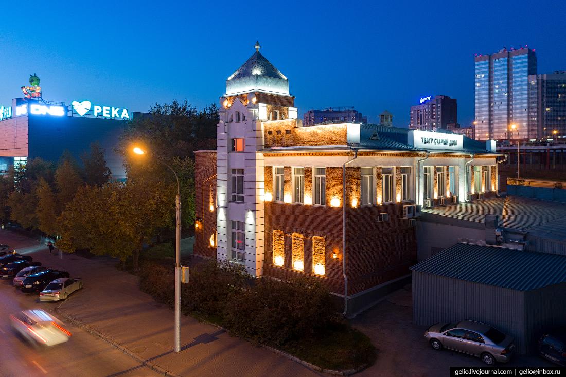 Театр Старый дом Фотографии Новосибирск с высоты