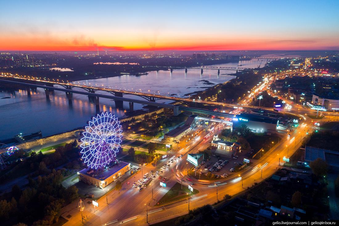 метро речной вокзал Фотографии Новосибирск с высоты