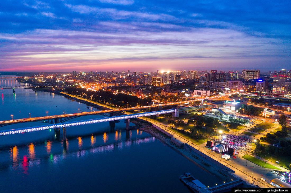 метромост Фотографии Новосибирск с высоты