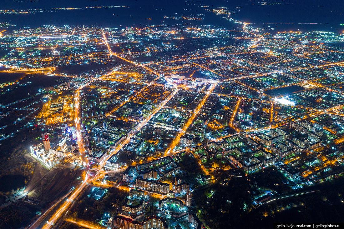 левый берег Фотографии Новосибирск с высоты