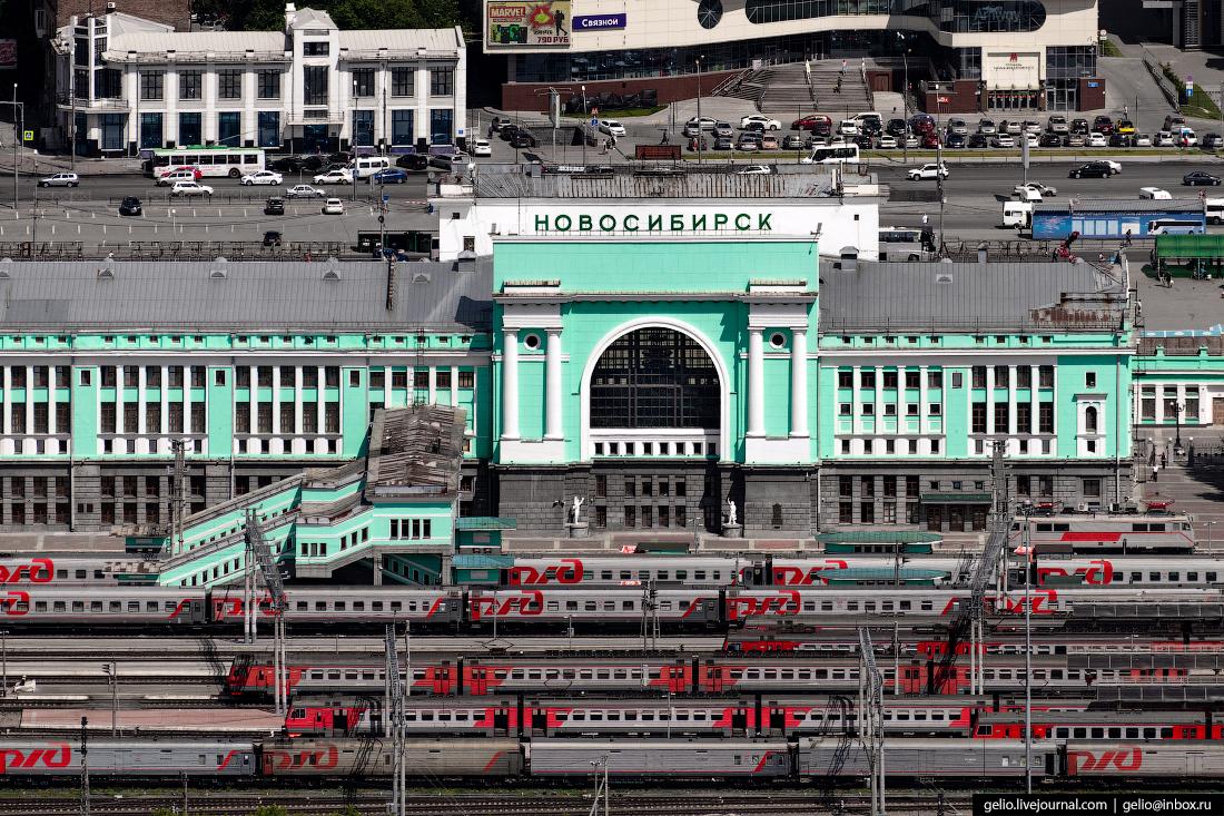 вокзал Фотографии Новосибирск с высоты